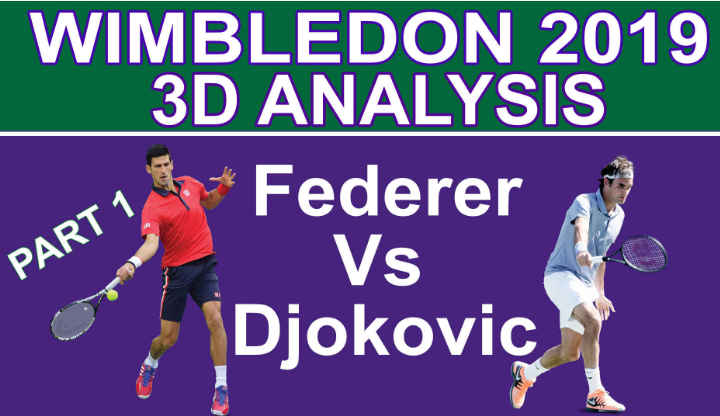 Federer Vs Djokovic 2019 Wimbledon 3D Match analysis